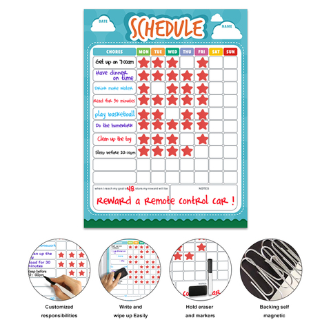 calendario semanal magnetico calendario horario carta de