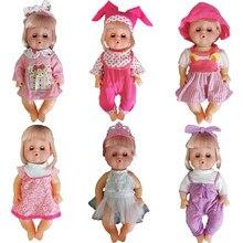 Boneca vestido apto para 28 cm bebê boneca reborn bebês roupas 11 Polegada bonecas acessórios 6 conjuntos meninas roupas moda roupa brinquedos