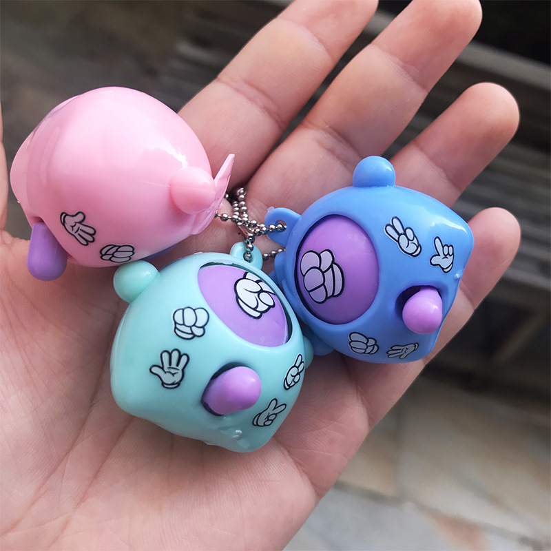 6 Pcs/lot Mini Mora Device Fair Finger-guessing Game Rock Paper Scissors Play Toy Round Egg Delicate And Funny Key Chain Pendant