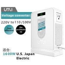 O curso 220v de umi2000w a 110v desliza o conversor bonde de alta tensão do transformador da potência para dispositivos americanos usando em aisa