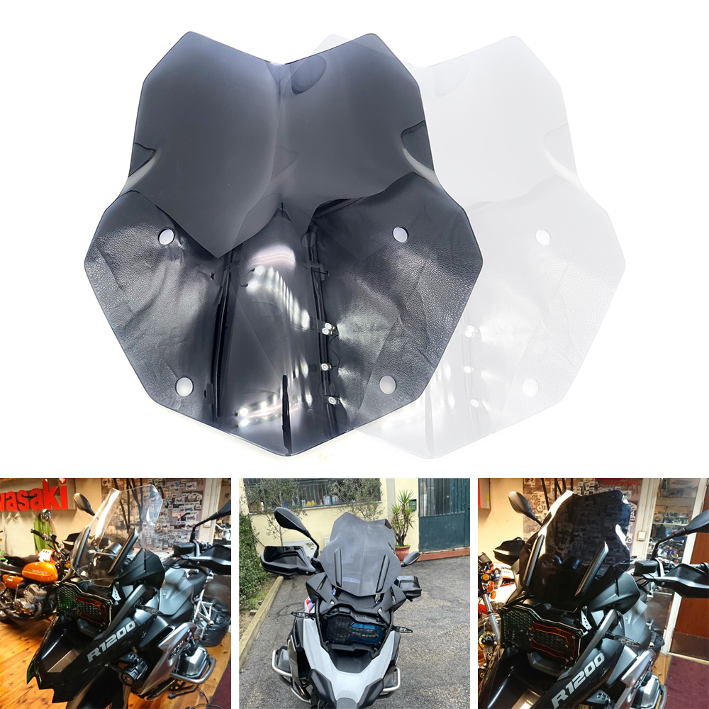 REALZION ABS Motorcycle Windscreen Wind screen Deflector Windshield For BMW R1200GS ls R 1200GS 1200 GS Adventure LC R1250GS Adv