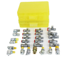 Hose-Adapter Tractors Hydraulic-Pressure-Test-Kit Meter Loader 25pcs Tee-Coupling-Set