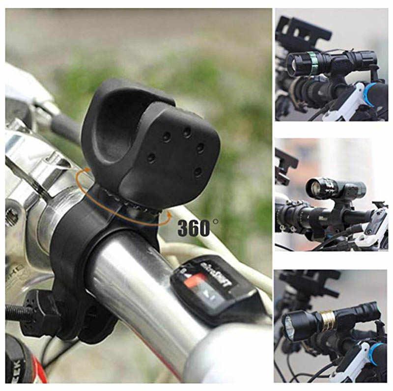 Fahrrad Front Licht Halterung Taschenlampe Halter Radfahren Fahrrad Licht Taschenlampe Clip Halterung 360 Grad Rotation Mit Gleitschutz Gummi