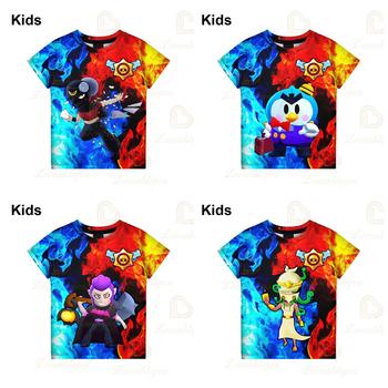 6 do 19 lat dzieci Leon t-shirty Brawlers Spike and Star moda strzelanka PRIMO 3D chłopcy dziewczęta kreskówkowe topy ubrania dla nastolatków tanie i dobre opinie BRAWL STARS Unisex 3-6y 7-12y 12 + y CN (pochodzenie) NN564D8 1 - 3cm Teenagers Kids T-shirt Cosplay 3D Printed Hoodies