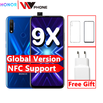 global version Honor 9x Smart Phone 48MP triple Cameras nfc 4000mAh 6.59 inch Full Screen GPU Turbo MobilePhone