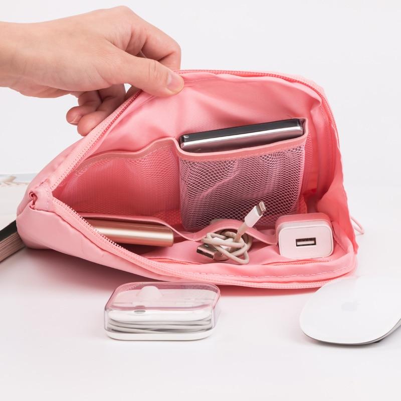 Portable Trumpet Digital Accessories Package Travel Multi-function Charging Treasure Headset Data Line Organizer Gadget Kit Bags