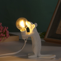 Tier Maus Form LED Tisch Lampe E12 Lampe Nacht Licht Hause Kinderzimmer Ornament Hause Wohnzimmer Dekoration Beleuchtung