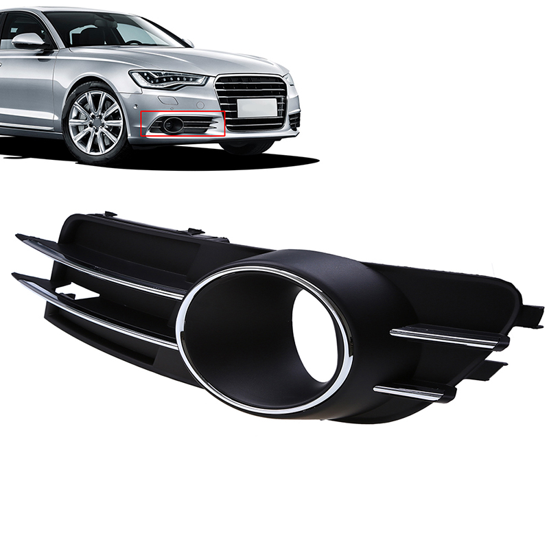 Car Auto Grille Vent Front Bumper Fog Lights Cover Grills For Audi A6 C7 Sedan/Avant 2011 2012 2013 2014 2015 pre-facelift image