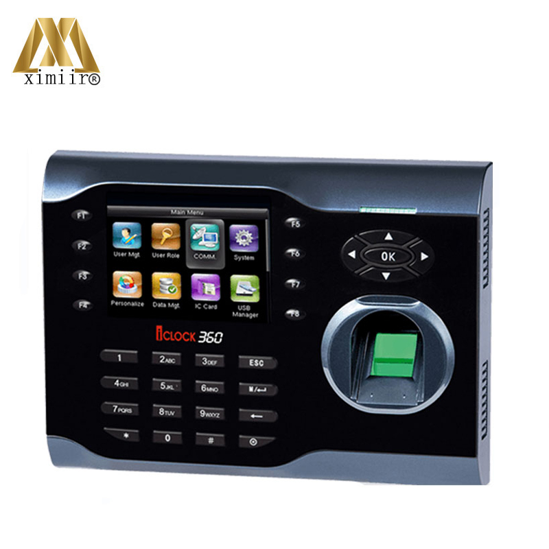 Good Quality Iclock360 Fingerprint Time Attendance Machine Linux Operating System TCP/IP Biometric Time Attendance