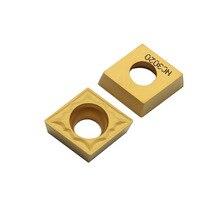 Herramientas de torneado interno de carburo, herramienta de corte de torno, inserto de torneado, alta calidad, CCMT09T304 HMP NC3020 PC9030, 10 Uds.