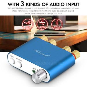 Image 4 - Nobsound HiFi 100W Mini TPA3116 Bluetooth Digital Amplifier Amp Stereo Amplifier HiFi Audio Receiver USB DAC With Power Supply