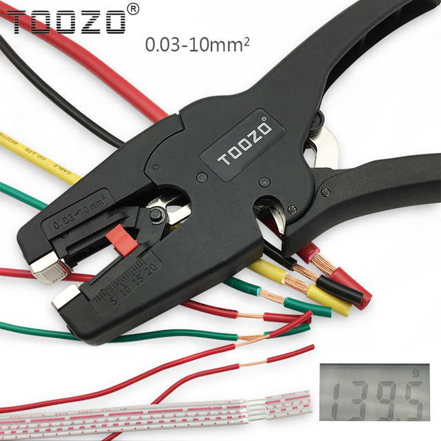 High quality automatic adjustment wire stripper cable cutter pliers wire stripping range 0.03 10mm2 hand tool alicates