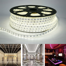 3M 5M LED Strip 220V AC Waterproof 60LEDs/M 2835 SMD Holiday Christmas Decorative Lamp Home Garden Outdoor Lighting Fixture