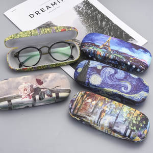 Eyewear Protector Case-Box Glasses-Case Oil-Painting Reading Hard Retro Unisex Print