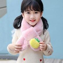 Детский шарф для мальчиков и девочек; зимние шарфы; модные детские теплые шарфы с овечкой из мультфильма; шарфы для шеи 80 см