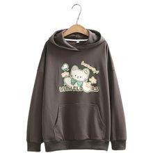 Худи в японском стиле преппи для девочек Свободный пуловер с