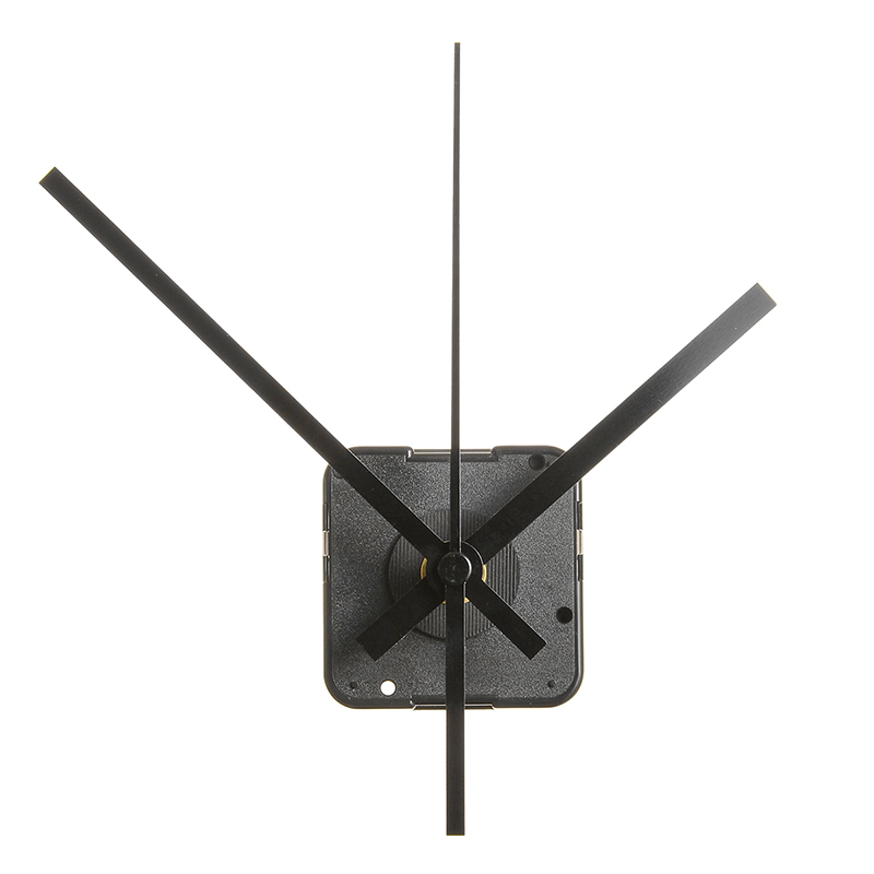 Silent Quartz Wall Clock Movement Mechanism 3 Pointer Movement Set for DIY quartz wall clock Replace Spare Accessories Black