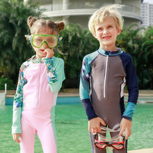 2019 New Boys/Girls wetsuit for children one piece diving suit swimming Sunscreen beach bathing child M-3XL