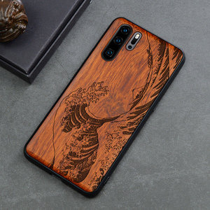 Image 4 - Carved Skull Elephant Wood Phone Case For Huawei P30 Pro P30 Lite Huawei  P20 P20 Pro P20 Lite Silicon Wooden Case Cover