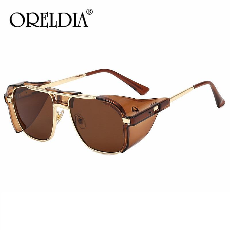 Vintage Steampunk Sunglasses Men Women Brand Design Square Sunglass Retro Punk Sunglasses UV400 Shades Eyewear Oculos de sol