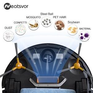 Image 2 - NEATSVOR V392 براون جهاز آلي لتنظيف الأتربة الاجتياح و ممسحة رطبة للأرضية APP التحكم خريطة الملاحة المخطط السيارات تهمة روبوت 1800PA