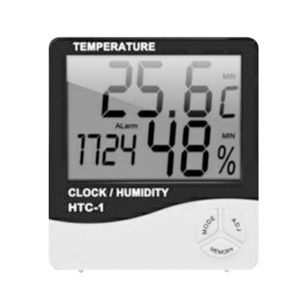 Крытый номер электронная ЖК-доска для Температура измеритель влажности цифровой термометр-гигрометр Метеостанция Будильник Htc-1 2021