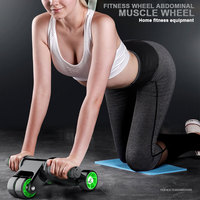 Muscle Belly Roller Sit Ups Assistant Outdoors Device Home Motion Four Rounds Abdominal Wheel Fitness Exercise Sucker Dance Gym