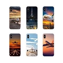 Aviones cielo aeropuerto Anime para Samsung Galaxy A3 A5 A7 A9 A8 estrella A6 Plus 2018, 2015, 2016, 2017 carcasa del teléfono cubre