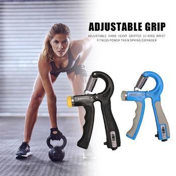 10-40kg Adjustable Heavy Gripper Hand Grip Strengthener Gym Power Fitness Exerciser Wrist Strength Training Spring Expander 4