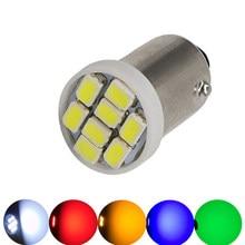 10pcs BA9S T4W 6.3V 6V LED Bulb No Ghosting Non Polarity for Pinball Game Machine Light Bulb Anti Flickering 8SMD AC DC6V