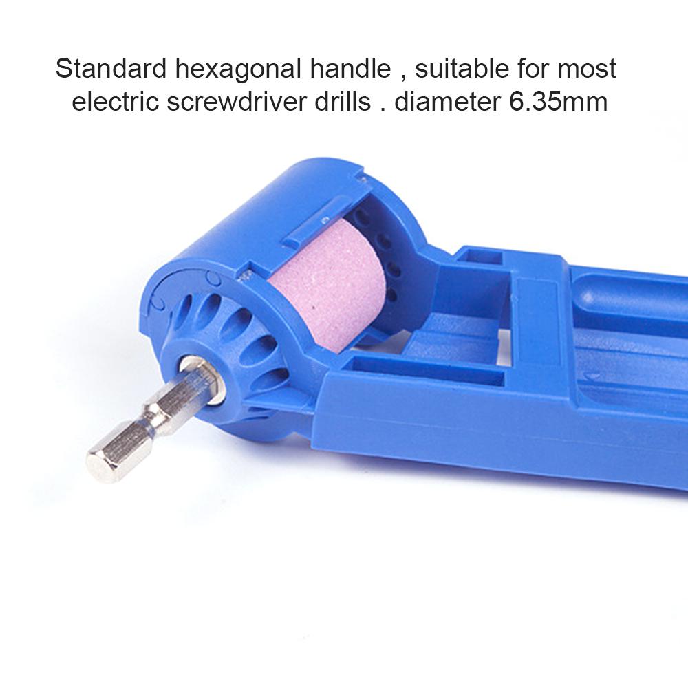 Portable Drill Bit Sharpener Corundum Grinding Wheel Tool Corundum Resisting 16