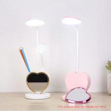 Lámpara de escritorio LED regulable para niños, luz de noche para dormitorio, mesita de noche, escritorio, lámpara plegable de aprendizaje para estudiantes, oficina y hogar