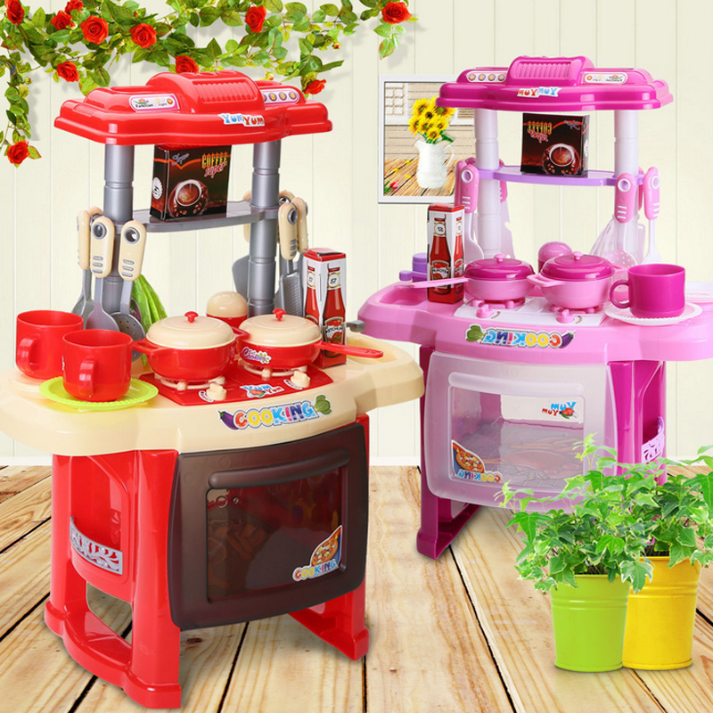 2019 New Kids Kitchen Set Children Kitchen Toys LargeSimulation Model Colourful Play Educational Toy For Girl Baby