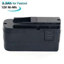 Akumulator 12V 3.3 Ah Ni-mh do Festool Festool C 12 C 12 Duo C 12 LI T 123 T 123 Li T3 TDK 12 564167 564378 491821 494522 494917