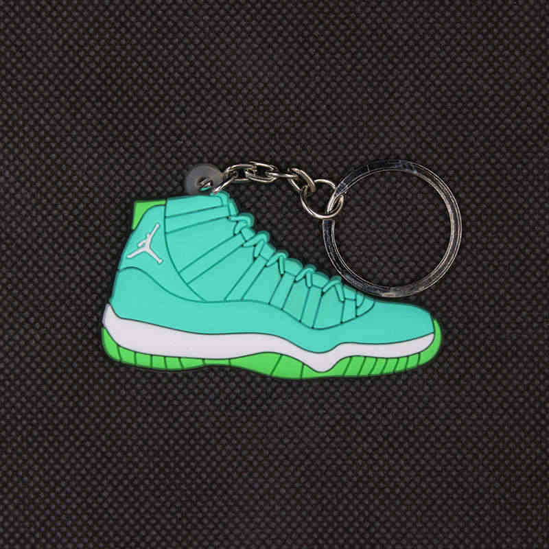 20 estilos gran oferta Air Jordan 11 bolsa de llavero para zapatos de baloncesto Charm Men Kids regalo AJ11 llavero de baloncesto sneakers llavero