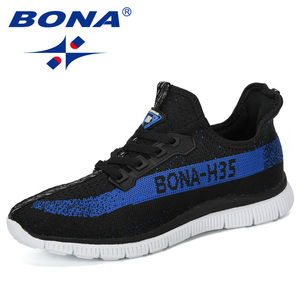 Image 5 - BONA 2019 New Summer Chaussure Homme Outdoor Men Running Shoes Mesh Sneakers Man Sport Shoes Walking Shoes Male Comfortable Shoe