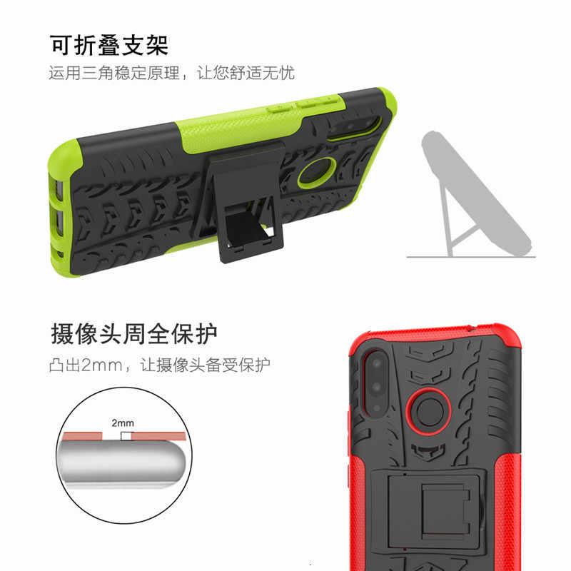 Per Huawei nova 3i Heavy Duty Armatura Antiurto Ibrido di Caso Del Basamento Per Huawei P di Smart plus Ue Daul Della Copertura Posteriore defender 6.3 pollici
