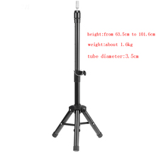 цена на Strong durable alloy tripod mannequin head wig stand salon barber manikin head holder tripod for styling and cutting.