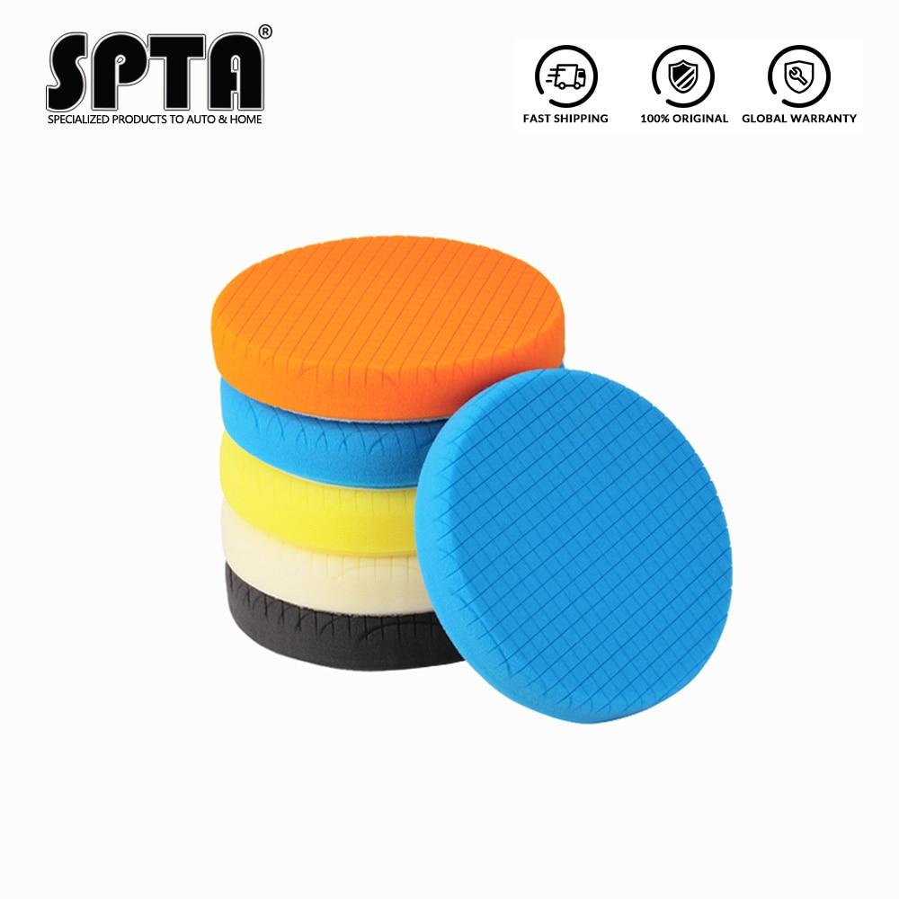 Spta 5.5 polegadas (135mm)/6.5 polegadas es(165mm)/7.5 polegadas es(190mm) almofadas lustrando almofadas de polimento para 3 polegada/5 polegada/6 polegada da/ro/ga polisher carro