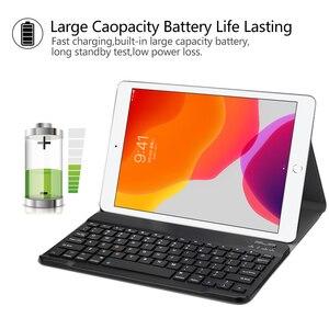 Image 5 - Manyetik klavye durumda iPad 10.2 2019 için Apple iPad 7 7th nesil koruyucu Tablet kapak funda çapa