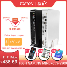 2019 Gaming Mini PC Desktop Level i9 9900 i7 9700F i5 9400F GTX1050TI 4G GPU Win10 Micro Computer WiFi 2*HDMI2.0 DVI DP AC WiFi