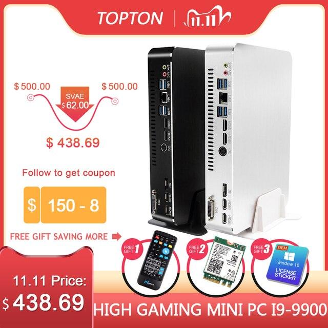 2019 Gaming Mini PC Desktop Level i9 9900 i7 9700F i5 9400F GTX1050TI 4G GPU Win10 Micro Computer WiFi 2*HDMI2.0 DVI DP AC WiFi