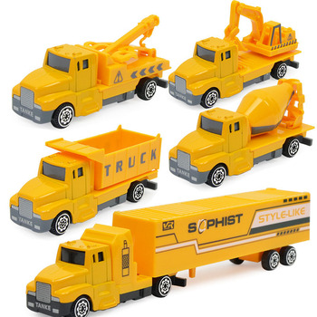 Mini Alloy Engineering Car Model Excavator Toy Dump Truck Model Classic Toy Vehicles Alloy Construction Toy Kids Toys