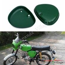 Papanda オートバイスチールグリーン 2 サイドカバー左と右サイドの保護ガード Simson S50 S51 S70