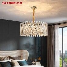 Lampe suspendue en cristal au design industriel moderne, idéal pour une cuisine, une salle à manger ou un Loft