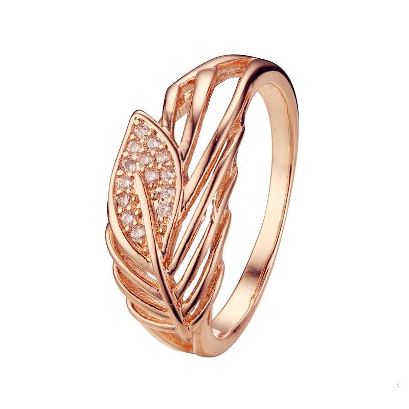 Женское кольцо в форме листа, обручальное кольцо из натурального камня 585 пробы, винтажное ювелирное изделие цвета розового золота|ring natural stone|ring naturalvintage rose | АлиЭкспресс