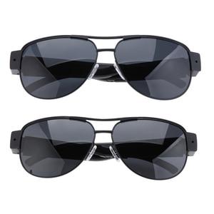 Поляризационные солнцезащитные очки для мини-камеры с котом HD 1080P, цифровой видеорегистратор, Спортивная видеокамера, Черная Камера видеон...