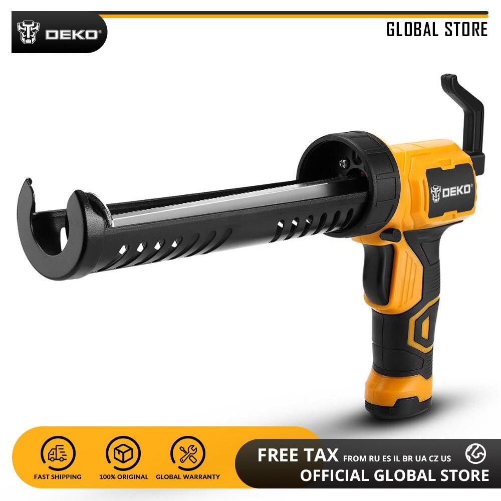 DEKO Automatic Electric Glue Gun Heat Hot Melt Multi-function Electric Pressure Glue Sewing Seams Sealant Waterproof Glue