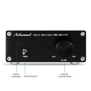 Image 4 - مكبر صوت دوك 200 وات صغير HiFi TPA3116D2 مضخم طاقة رقمي ثنائي القناة ستيريو موسيقي صوتي منزلي مكبر صوت