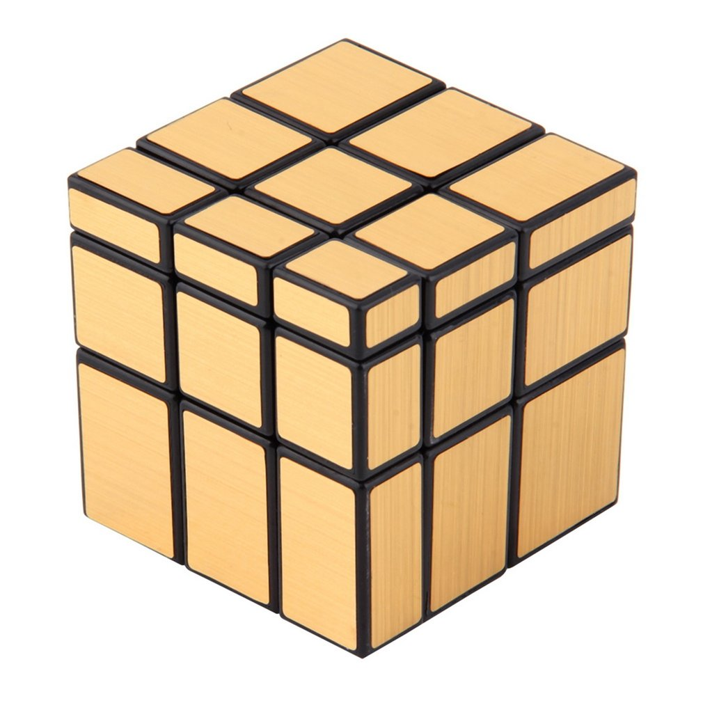 YKS Magic Mirror Cube Professional Gold&Silver Shiny Cube Magico Cast Coated Puzzle Speed Twist Learning and Education Toys New